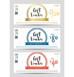 Gift certificate gift voucher gift card template vector