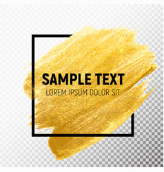 Gold paint glittering textured art vector