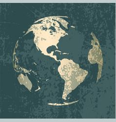 Gold world map design vector