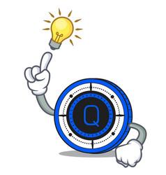Have an idea qash coin mascot cartoon vector