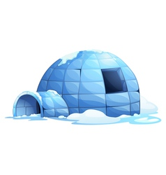 Igloo background vector image