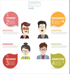 infographics concept modern background vector image