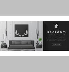 Interior design modern bedroom background 8 vector