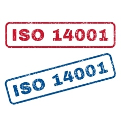 ISO 14001 Rubber Stamps vector