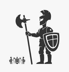 Knight guardian heraldry character vector