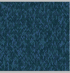 Knit texture melange blue color seamless pattern vector