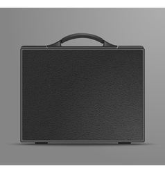 Leather black briefcase vector