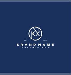 Letter kx logo design vector