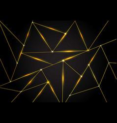 luxury polygonal pattern and gold triangles lines vector image