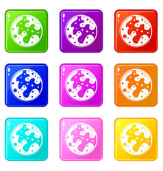 Mars icons 9 set vector