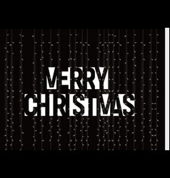 merry christmas banner white text vector image