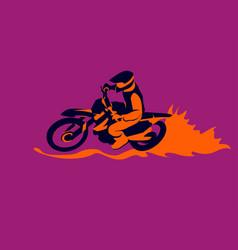 Motocross biker vector