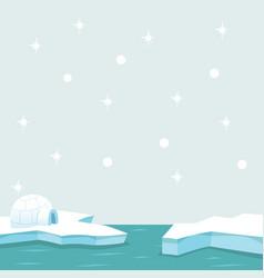 North pole arctic in the ocean vector