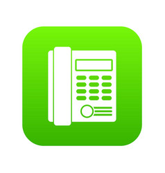 office business keypad phone icon digital green vector image