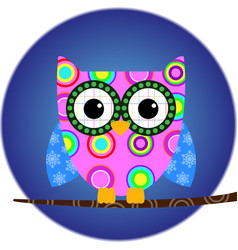 owl animal bird cartoon vector image