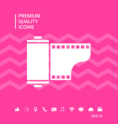 Photographic film cassette icon vector