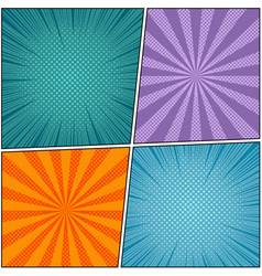 Pop art book page colorful background vector