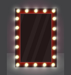 Realistic mirror for makeup vector
