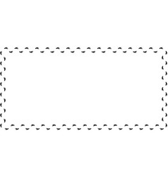 rectangle border frame with black barefooted vector image
