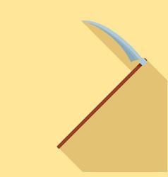 scythe icon flat style vector image