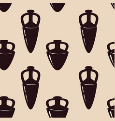 seamless pattern with antique ceramics vector image