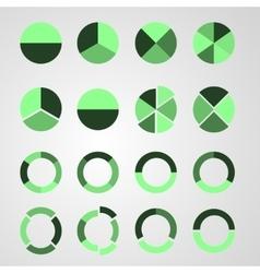 Set of diagram vector