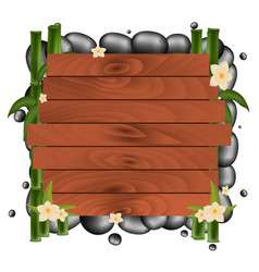 spa salon banner with stones thai massage wooden vector image