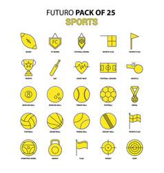 sports icon set yellow futuro latest design icon vector image
