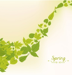 Spring fall leaves background vector