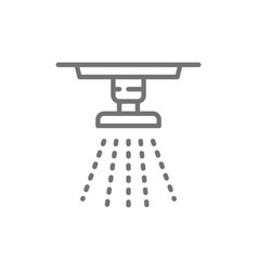Sprinkler fire system extinguisher line icon vector