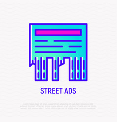 street ads thin line icon vector image