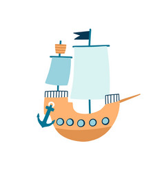 toy ship flat children vector image