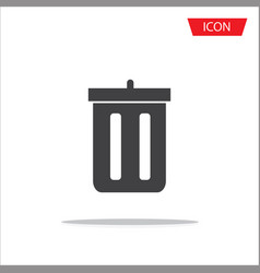 trash icon isolated on white background vector image