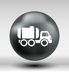 truck auto barrel icon button logo symbol concept vector image
