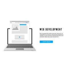 website development concept website or landing vector image