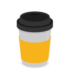 coffee cup flat vector image vector image