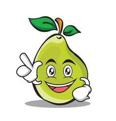 have an idea pear character cartoon vector image