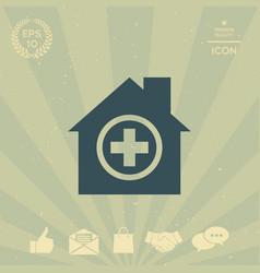 hospital icon vector image vector image