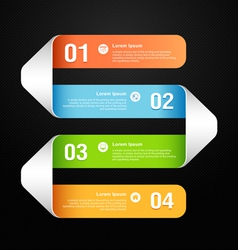 Modern banner design template vector image vector image