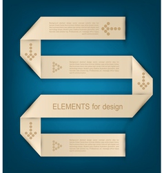 paper design element for business vector image vector image