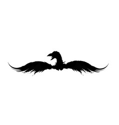 black big eagle vector image