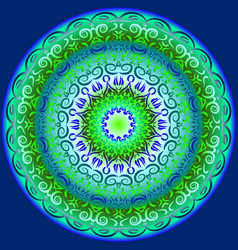 Circular pattern in blue and green vector