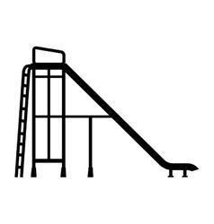 slider playground recreation game icon vector image