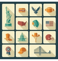 Symbols of the USA vector image vector image