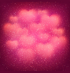 valentines day background with blurred bokeh heart vector image