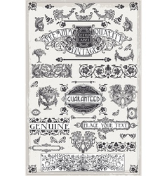 Vintage Hand Drawn Graphic Page Banners vector image vector image