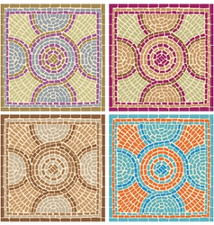 antique mosaics vector image vector image