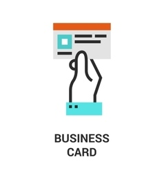 business card icon vector image vector image