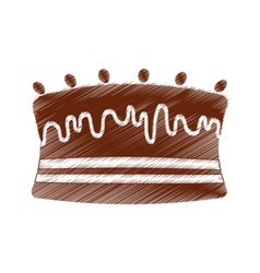 drawing cake chocolate sweet vector image