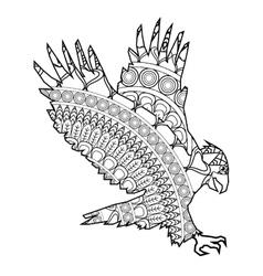 eagle icon coloring animal vector image